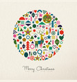 christmas and new year retro folk art ornament vector image vector image