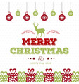 Christmas card with pattern background and balls