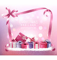 christmas holiday background with gift boxes and vector image vector image