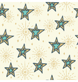 Christmas seamless pattern with stars vector image