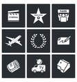 Cinema and Glory icons vector image vector image