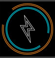 cloud lightning icon - thunder storm vector image