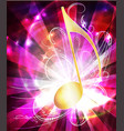 colorful musical background with note vector image vector image