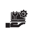 computer service black concept icon vector image