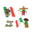 concept on cinco de mayoa set of characters in vector image vector image