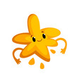cute cartoon yellow monster character with funny vector image vector image