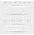 dividers and shadows big set transparent vector image vector image