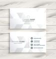elegant white business card design vector image vector image