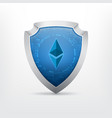 ethereum crypto currency sign vector image vector image