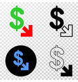 export dollar eps icon with contour version vector image vector image