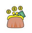 finance savings icon on white background for vector image