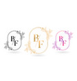 floral frame for bf initial letter vector image vector image