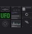 futuristic ufo interface vector image vector image