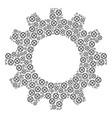 gearwheel mosaic of clock gear icons vector image