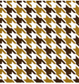 gold mix hounds tooth seamless pattern vector image vector image