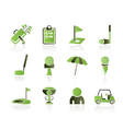 golf and sport icons vector image