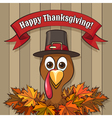Happy Thanksgiving Day Emblem vector image vector image