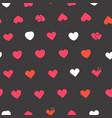 hearts symbols on black background seamless vector image