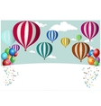 Hot Air Balloon Celebration vector image vector image