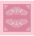 light pink card with a beautiful pattern vector image vector image