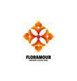 logo flora gradient colorful style vector image