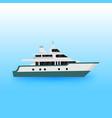 luxury yacht transportation vector image vector image