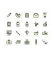 medical equipment icon set vector image