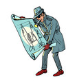 military intelligence spy and secret documents vector image