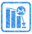 monero panic fall chart framed stamp vector image vector image