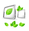 nature green 3d concept vector image