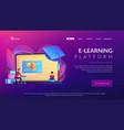 online education platform concept landing page vector image vector image