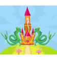 princess in the burning tower vector image vector image