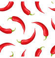realistic detailed 3d whole hot chili pepper vector image vector image