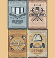 repair work tools and renovation instruments vector image vector image
