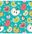 Retro Apples Seamless Background vector image