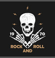 rock-n-roll grunge typography for t-shirt clothes vector image vector image