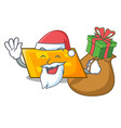 santa with gift parallelogram mascot cartoon style vector image vector image