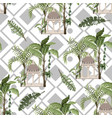 seamless pattern with jungle trees and ancient vector image