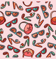 seamless pattern woman fashion accessories vector image