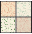 Set of Four Fruit Seamless Patterns vector image vector image