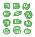 set of natural stickers vector image vector image