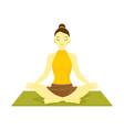 siddahasana accomplished pose yoga meditation vector image vector image
