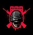 skull in a stormtrooper helmet sport game logo vector image vector image