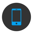 Smartphone flat blue and gray colors round button vector image vector image