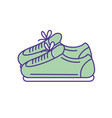 sneakers to practice exercise and train vector image vector image