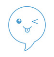 speech bubble kawaii character vector image