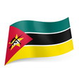 State flag of Mozambique vector image vector image