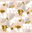 tender pastel color orchid flower repeatable motif vector image vector image