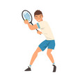 tennis player athlete character in uniform vector image vector image