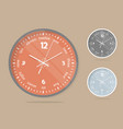 wall clocks face set dial plate vector image